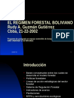 Regimen Forestal Boliviano