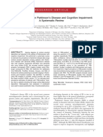 Amyloid Deposition in Parkinson Disease and Cognitive Impairment
