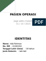 Laporan Operasi 31 Okt 2015