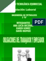 Obligaciones Del Trabajador y Empleador