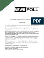 California Fox Poll - 4-22-16