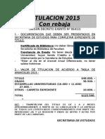 Valores de Titulacion 2015 Con Rebaja (1)