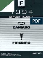 1994 Chevrolet Camaro & Pontiac Firebird Service Manual Volume 1