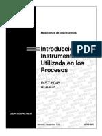 Introducción a La Instrumentación de Procesos