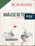 Análise de Textos (...), De I. Antunes (116 p.)