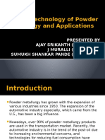 Recent Technology of Powder Metallurgy and Applications