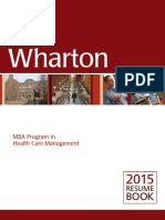 Wharton _ 2015 Resume Book