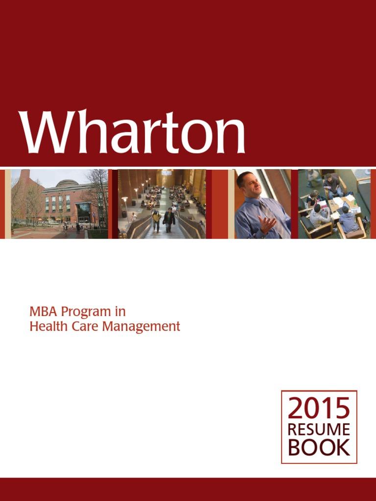 Wharton _ 2015 Resume Book   Wharton School Of The University Of ...