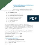 3CALCUL3O DE POTENCIA INSTALADA O CARGA INSTALA Y LA MAXIMA DEMANDA.docx