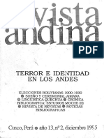 Isla, A. Taylor, J. Terror e identidad en los andes. el caso del NOA argentino (1995)