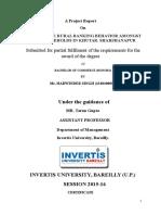 Invertis b Com Project 2016