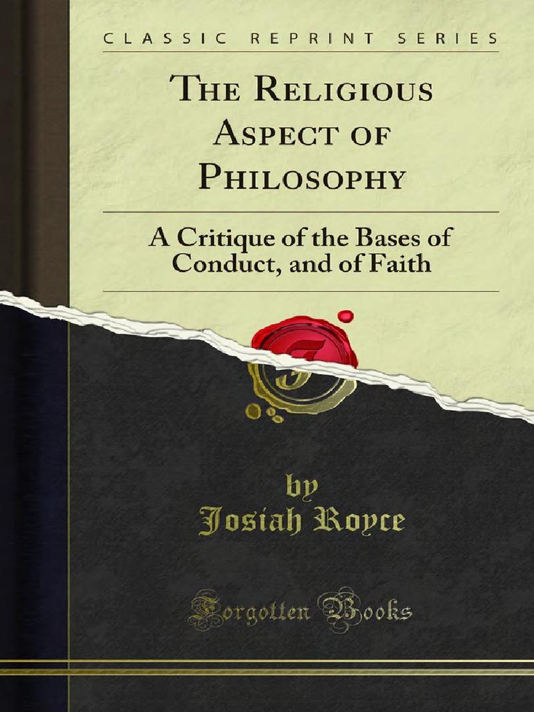 josiah royce society