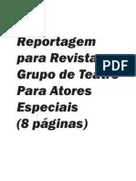 Página/Revista - Grupo de Teatro Para Atores Especiais