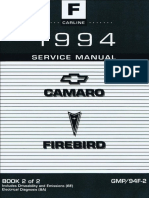 1994 Chevrolet Camaro & Pontiac Firebird Service Manual Volume 2