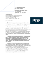 US Department of Justice Civil Rights Division - Letter - tal077