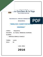 Bioquimica 1. Analisis Cuantitativo de Enzimas