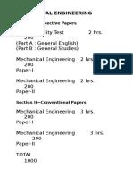 Mechanical Engineering Ies Syllabus Bulleted