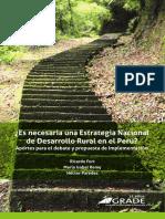 ¿Es necesaria una Estrategia Nacional de Desarrollo Rural en el Perú?