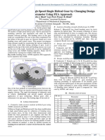 Stress Analysis of High Speed Single Helical Gear by Changing Design Parameter Using FEA Approach