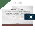 Protocolo Del Diplomado Tutores-generación III