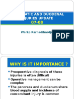 Pancreatic and Duodenal Injuries Update