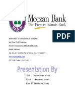 Prodects and Documentation of Meezan Bank Ltd