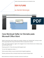 Cara Membuat Daftar Isi Otomatis Pada Microsoft Office Word _ for the BETTER FUTURE