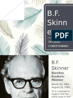 Bf Skinner and Operant Conditioning