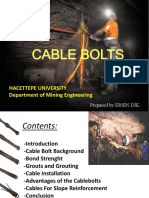 Cable Bolts
