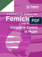Normativa Femicidio
