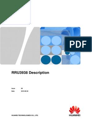 RRU3938 Description 08(20150630) | Lte (Telecommunication) | Gsm