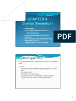 Chapter 4 (Crystal Dynamics I) [Compatibility Mode]
