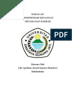 Makalah Administrasi Keuangan Negara Dan Daerah