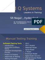 Manaual Testing Training Course Content