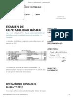 Examen de Contabilidad básico - Contabilidad basica