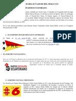 Partidos Del Ecuador Del Siglo Xx