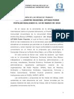 Resumen Encuentro UPTAEB Poder Popular
