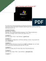 Mempercepat Booting StartUp Windows XP