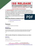 20160423-PRESS RELEASE Mr G. H. Schorel-Hlavka O.W.B. ISSUE -External Affiars, Sex Slaves & the Constitution