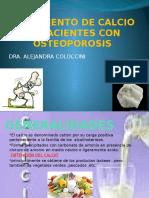 Suplemento de Calcio en Pacientes Con Osteoporosis