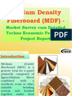 Medium Density Fiberboard (MDF) - Market Survey cum Detailed Techno Economic Feasibility Project Report