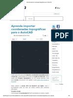 PROCEDIMENTOS_PARA_ Aprenda Importar Coordenadas Topográficas Para o AutoCAD