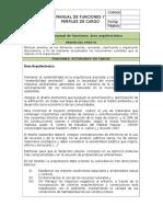 Manual de Funciones Union Temporal. Area Arquitectonica
