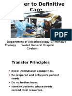 Transfer to Definitive Care