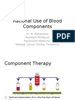 Rational Use of Blood Components