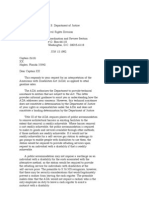 US Department of Justice Civil Rights Division - Letter - tal104