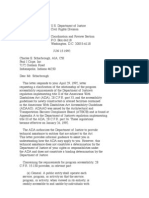 US Department of Justice Civil Rights Division - Letter - tal106