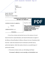Bundy Motion/Lack of Jurisdiction