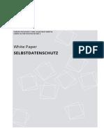 White Paper Selbstdatenschutz Forum Privatheit