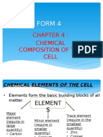 BIOLOGY FORM 4 Chapter 4 - Chemical Composition of the Cell